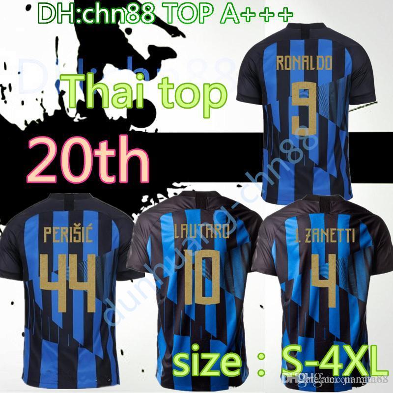cheap for discount 887af 06127 18 19 größe: S-4XL Inter fußball-trikot LAUTARO ICARDI PERISIC NAINGGOLAN  mailand fußball-shirt mushup 20 jahrestag POLITANO maillot de foot