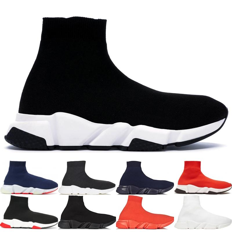 Designer Luxury Fashion Sock Shoes Top Quality Speed Trainer Casual Shoes Men Women Runner Triple Black Boots Flat Shoes Sneakers