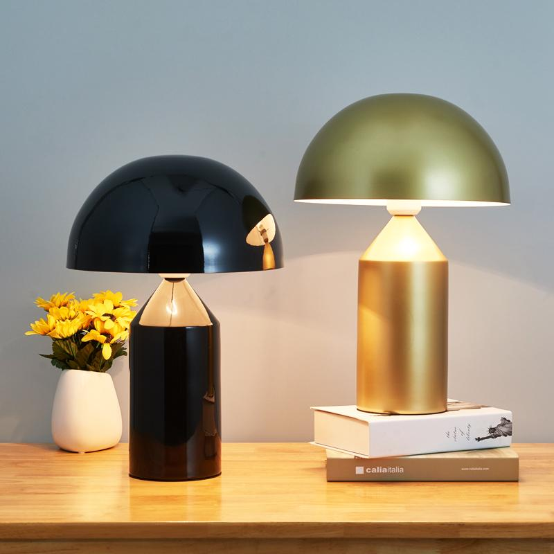 Modern Table Lamp For Bedroom Beside Lams for Living Room Indoor Decorative  Gold Iron Shades Nodic Led Lights