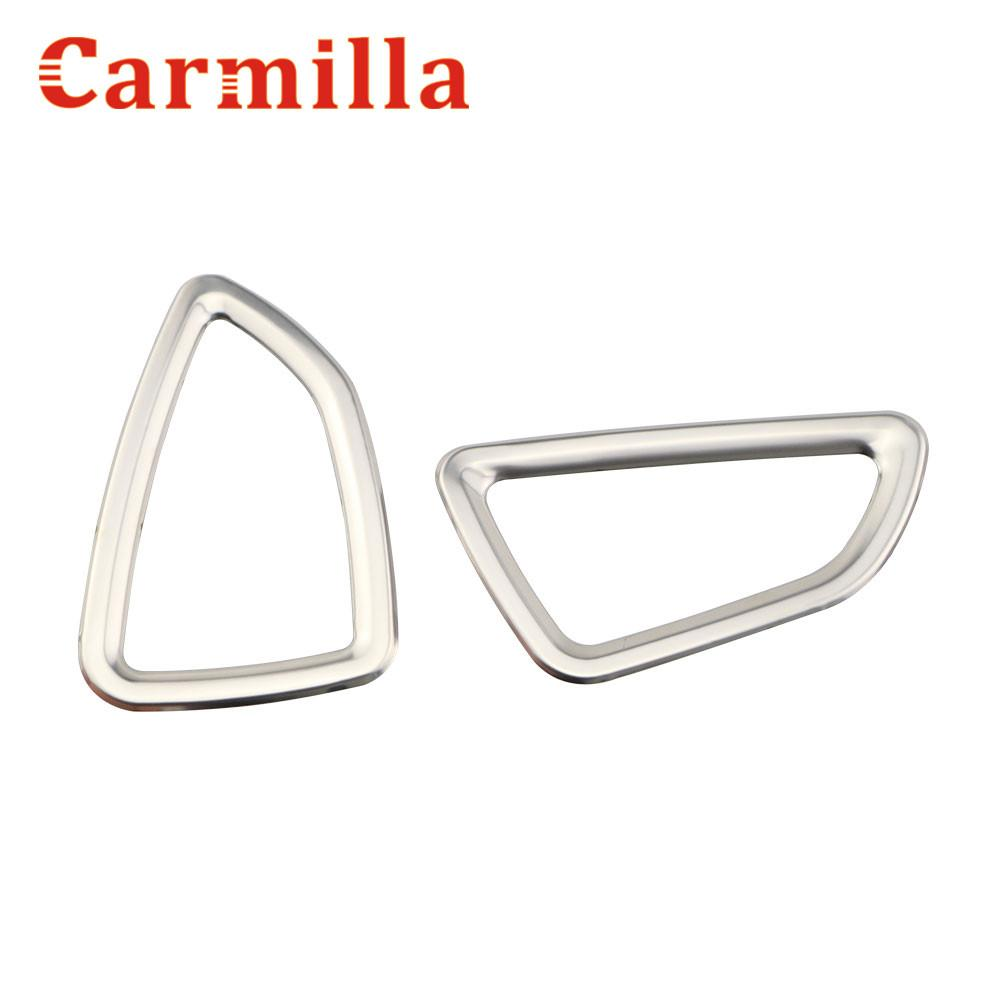 Carmilla 2X Car-Styling Front Air Vent Trim Air Vent Outlet Cover Sticker Case for Tucson 2015 2016 2017 Car Accessories