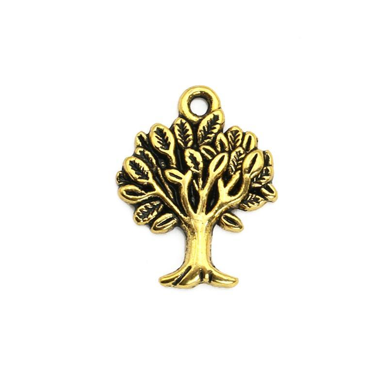 20pcs Antique Gold Plated Tree of Life Mask Charms Pendants for Bracelet Jewelry Making DIY Necklace Craft 21x17mm