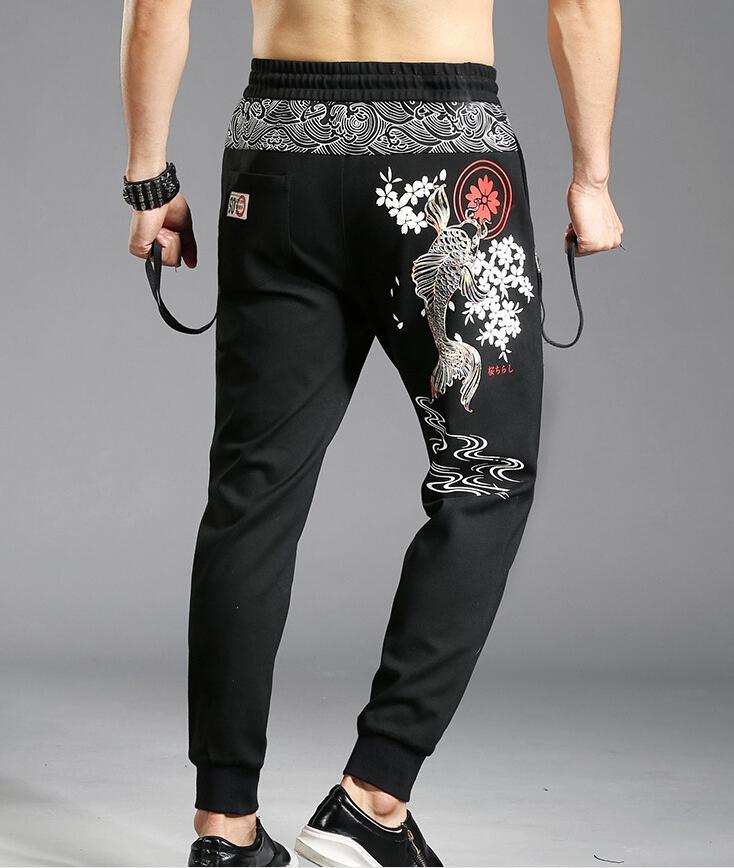 cd5fb2fe72 Pantaloni da jogging uomo eleganti pantaloni Streetwear pantaloni sportivi  hip-hop in cotone colore Slim pantaloni uomo m87