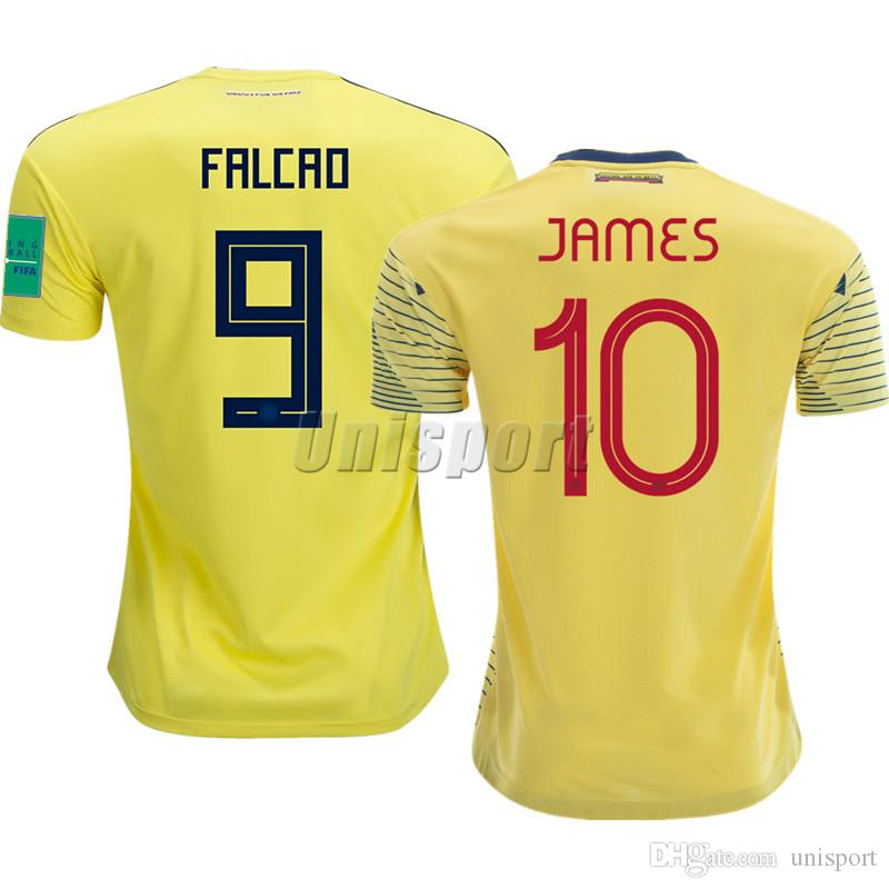 best website f1693 17974 2018-2019 Colombia Soccer Jerseys Copa America James Falcao Futbol Camisa  Gold Cup Football Camisetas Shirt Kit Maillot Maglia