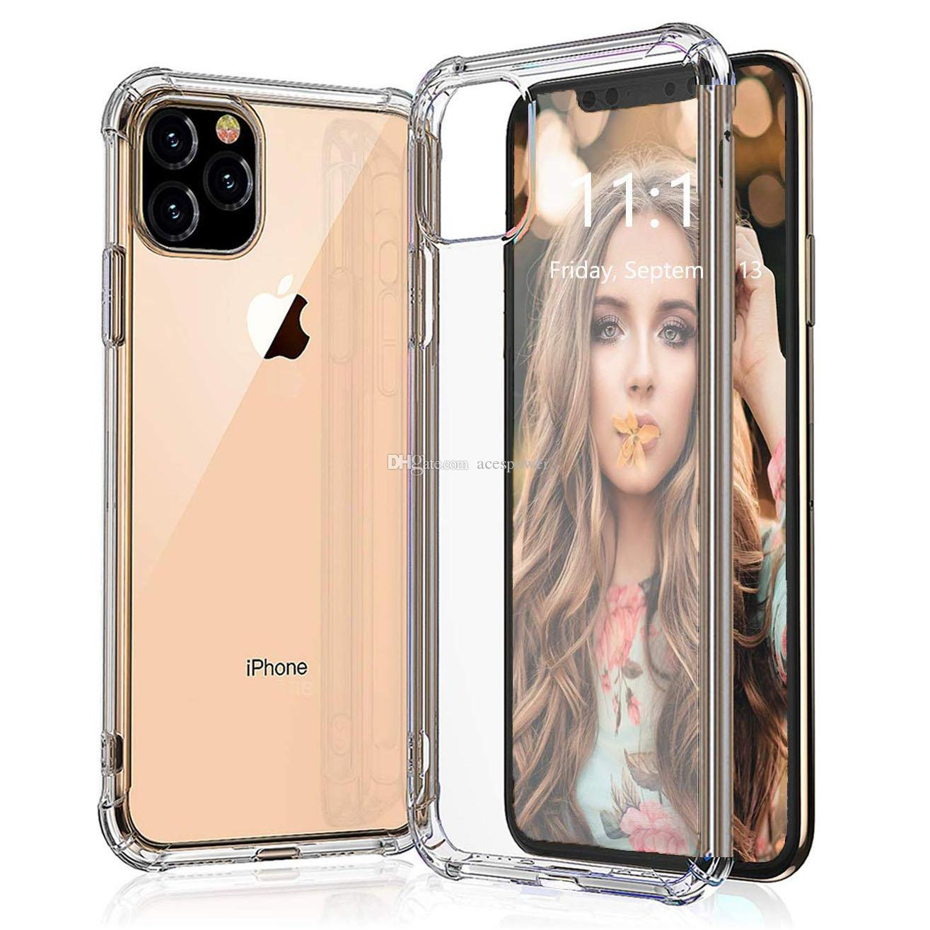 For IPhone 11 Pro MAX XR XS Shockproof TPU Case Clear for Samsung Galaxy S10 Plus S9 Note 10 Soft Cover