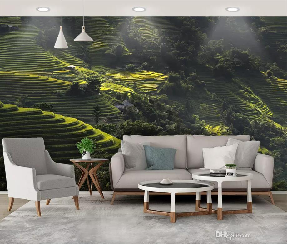 Individuelle Tapete für moderne Wand Natürliche Landschaftstapete für  Wohnzimmer Schlafzimmer Tapete an der Wand groß