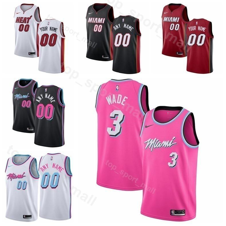 new arrivals 4eced 8f316 Men Youth Women Heat Printed Dwyane Wade Jersey Basketball Edition City  Earned Hassan Whiteside Dion Waiters James Johnson Goran Dragic