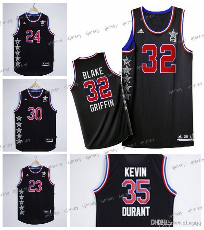 outlet store 80590 7286a Men's Basketball Jersey Western Conference All Star Jerseys Stephen Curry  Blake Griffin LeBron James Kevin Durant