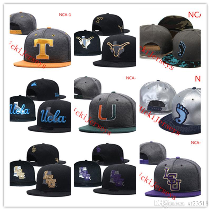 info for 31412 c471f NCAA UCLA Bruins Snapback Caps Black Yellow Grey Texas Longhorns Hat Miami  Hurricanes LSU Tigers Caps One Size Fit Most UCLA Bruins LSU Tigers Texas  ...