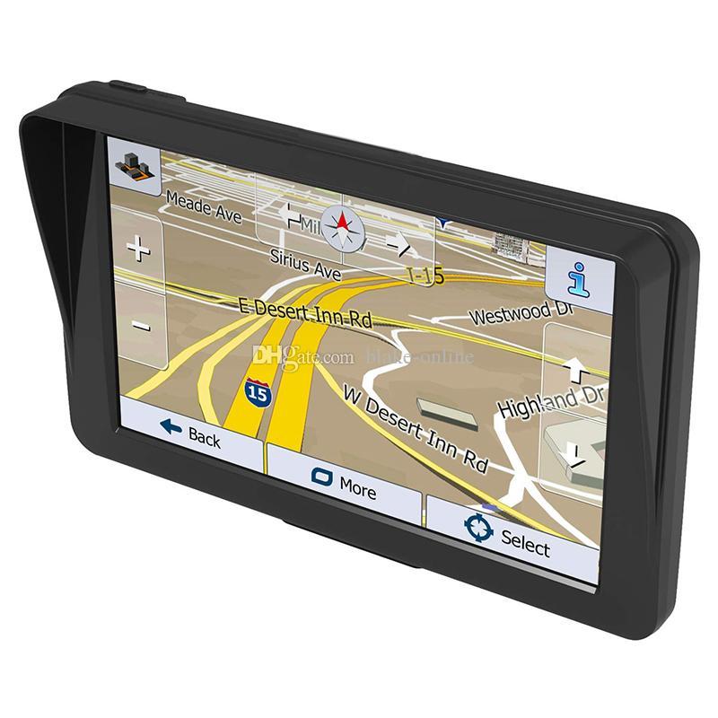 HD Auto 9-Zoll-LKW-GPS-Navigator Bluetooth-Avin-Unterstützung mehrerer Fahrzeuge-Navigation mit Sunshade-Shield 8GB-Karten