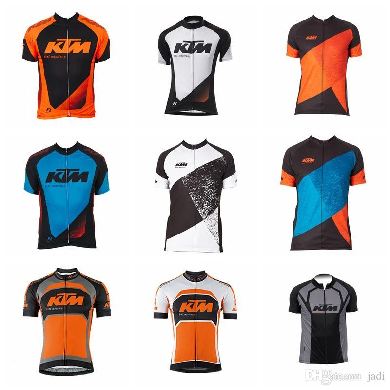 a1c605cce 2019 Summer KTM Cycling Jersey Men Quick Dry Short Sleeve Cycling Shirt  Mountain Bike Tops Bicycle Clothes Maillot Ciclismo K012315 Mens Shirts  Online Mens ...