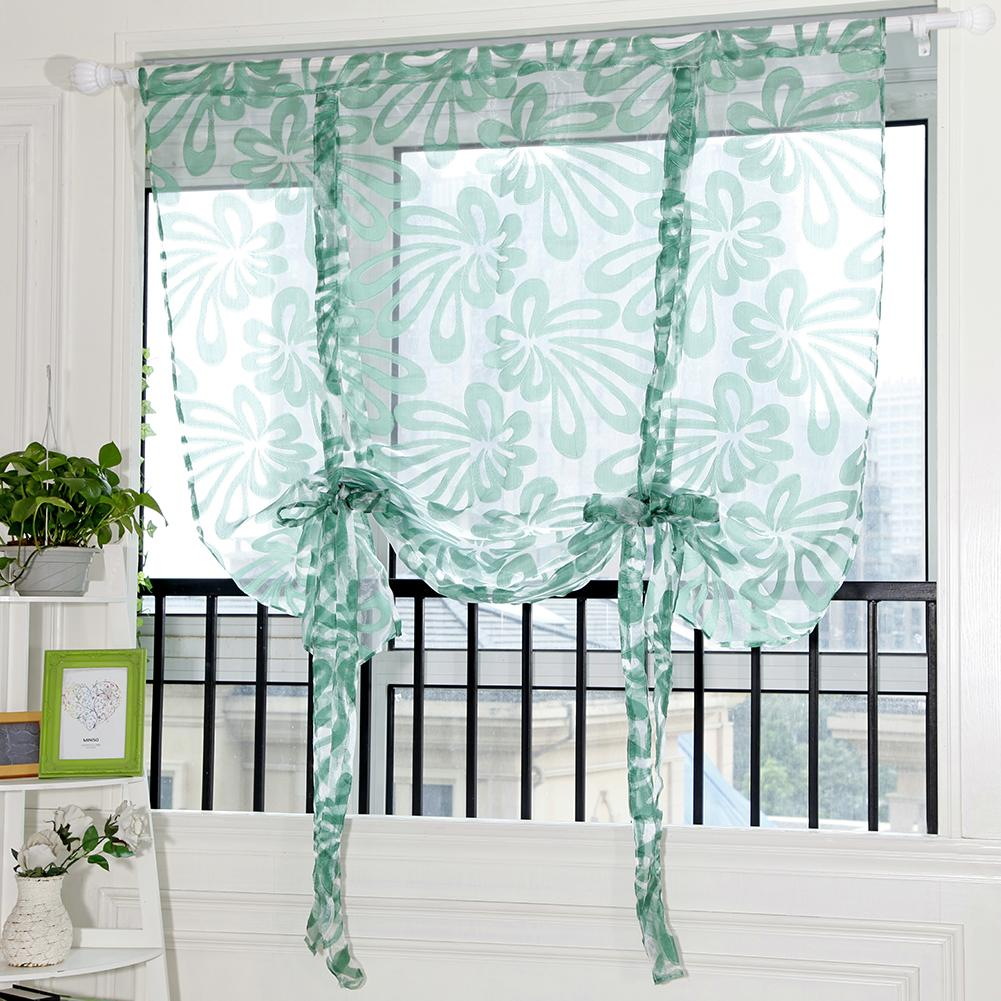Floral window voile door curtain for living room tulle short curtains for bedroomwindow sheer kids drapes sheer curtains sheer drapery panels drapery sheers