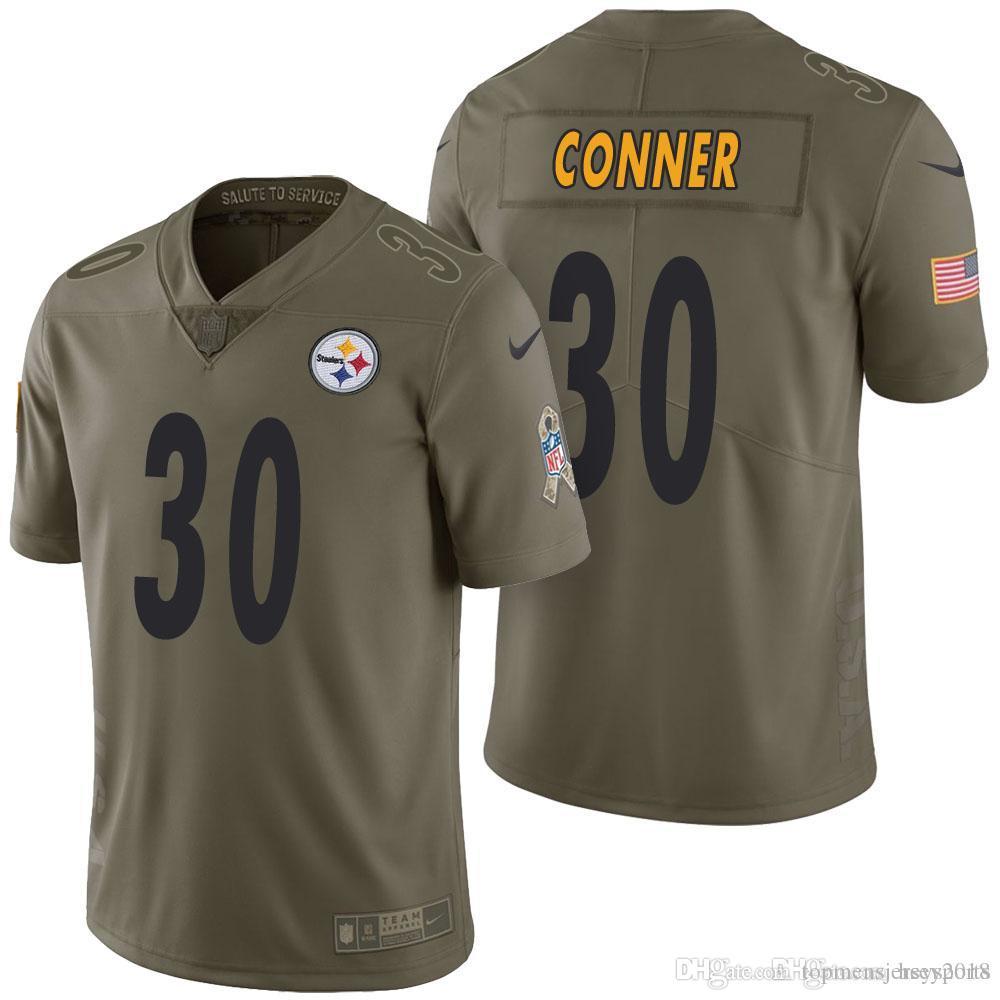 acb9933bbaa 2018 30 James Conner 2017 Salute To Service 90 T.J. Watt Jersey Mens  Pittsburgh Steelers 84 Antonio Brown 26 Le'Veon Bell From  Topmensjersey2018, ...