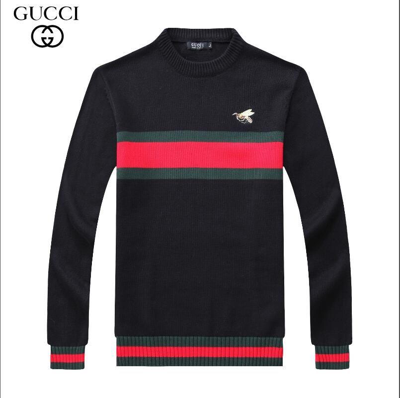 2018 novos Homens de Lazer Camisolas de marca de luxo Gucci camisola  esportes camisola jaqueta de alta qualidade casaco de manga comprida camisa  de cor ... 325a7106406