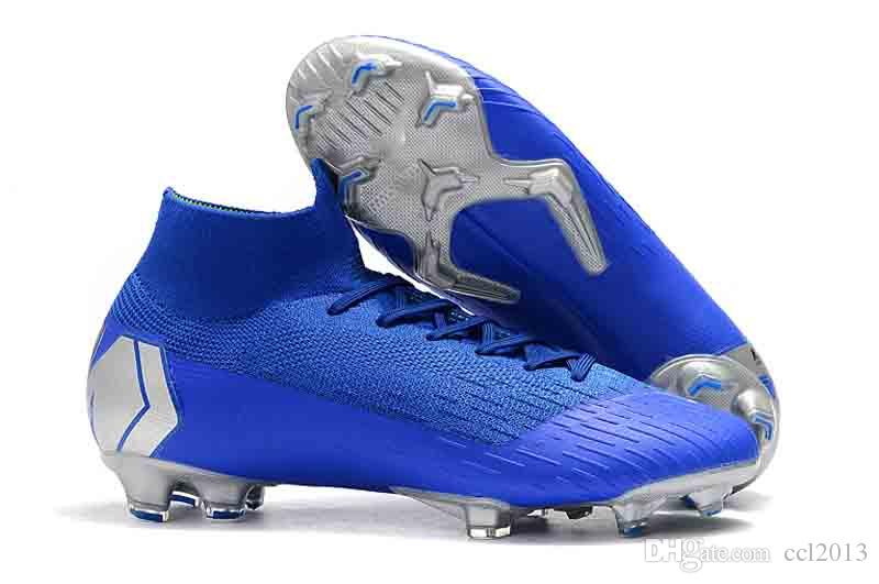 87393edcf 2019 Football Boots New Mercurial Superfly VI 360 Elite FG CR7 Ronaldo Soccer  Shoes High Ankle Soccer Cleats Size 35-45 Soccer Shoes Soccer Cleats  Football ...