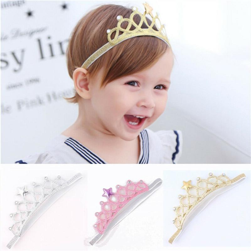 PUDCOCO Tatlı kızlar Çocuklar Çocuklar Düğün Gelin Gelinlik Prenses Balo Bling Saç Taç Kafa Tiara Doğum Fotoğraf Yeni
