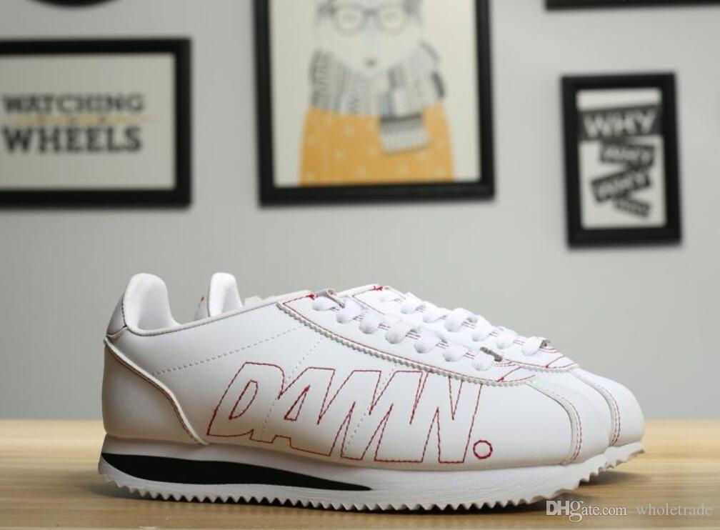 low priced 401c0 cb0bf Free Shipping Womens Mens Kendrick Lamar x Cortez Kenny 1 Damn Running  Shoes Come With Box