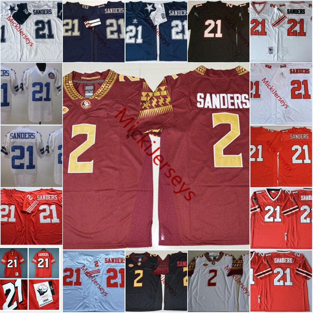 quality design 1fdd9 525b4 Mens NCAA #2 Deion Sanders Florida State Seminoles College Football Jerseys  Embroidery Stitched #21 Deion Sanders Jersey S-3XL