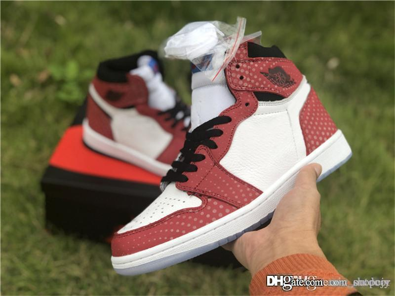 b922d89a225892 2019 2018 New Authentic 1 High OG Chicago Crystal 1S Gym Red Spider Man Blue  Black White Photo Basketball Shoes Sports Sneakers 555088 602 From  Mic outdoor