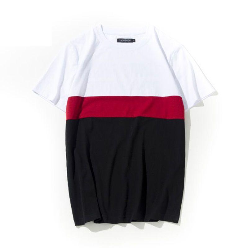 7f21d1ff 2019 Brand New Mens Clothing Patchwork Long T Shirt Hip Hop Streetwear T  Shirt Extra Long Length Tee Tops Long Line Tshirt Coolest T Shirt Shirts  With ...