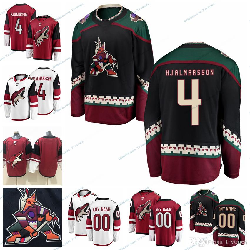 watch 5dc49 45b44 2019 Arizona Coyotes Niklas Hjalmarsson Stitched Jerseys Customize Vintage  Black Shirts #4 Niklas Hjalmarsson Hockey Jerseys S-XXXL