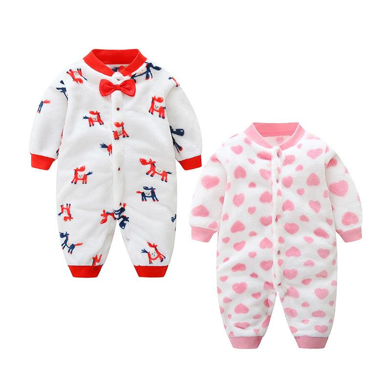 86bf565d4007 2019 Good Quality Spring Autumn Newborn Baby Rompers Cotton Cartoon  Jumpsuit Girls Baby Flannel Long Sleeve Romper Infant Baby Clothing From  Zerocold05