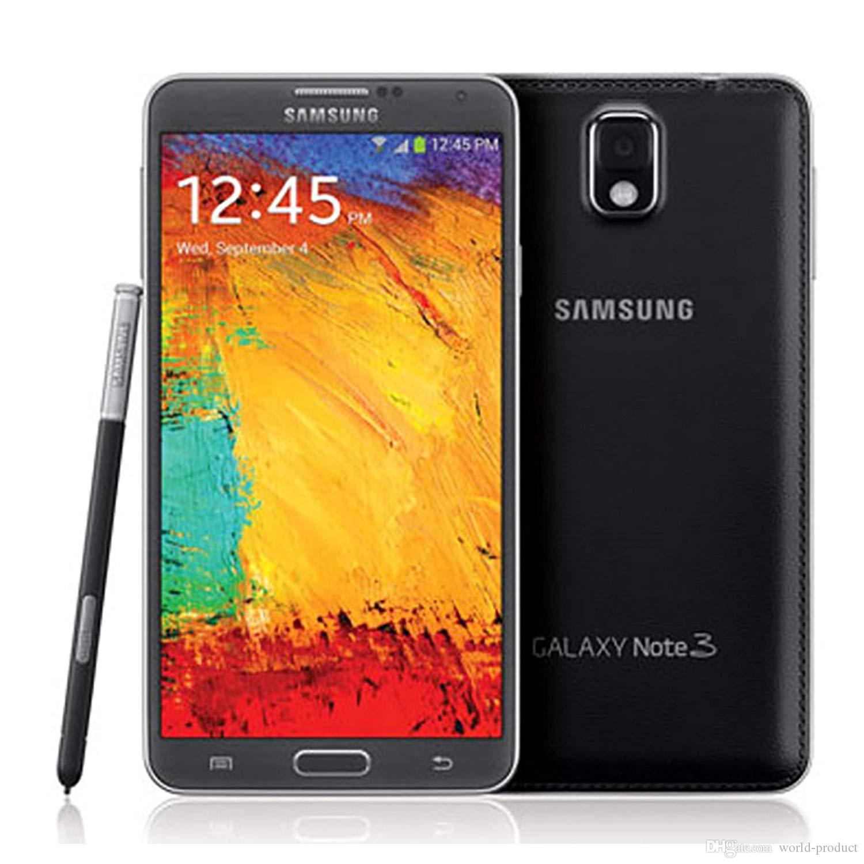 Original Samsung Galaxy Note 3 N900 N9005 Mobile Phone Quad Core 5 5 3G RAM  16G ROM 8MP GSM WCDMA refurbished smartphone