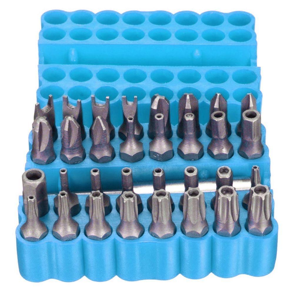 33 pçs / set Torx Hex Estrela Bit Set com Suporte Magnético para Qualquer Brocas Chave De Fenda Nutdrivers Bits Ferramentas Manuais com caixa De Armazenamento