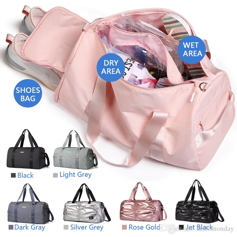 60d28e4034ac KMV Waterproof Duffel Bag for Dry and wet separation Yoga bag with Shoes  Compartment,Gym bag and sport for Girl and Men