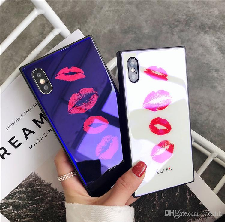 Designer Kiss Sexy Lips Fashion Phone Cases Cover for IPhone X 7Plus 8P 7 8 6P 6SP Good Quality for Women
