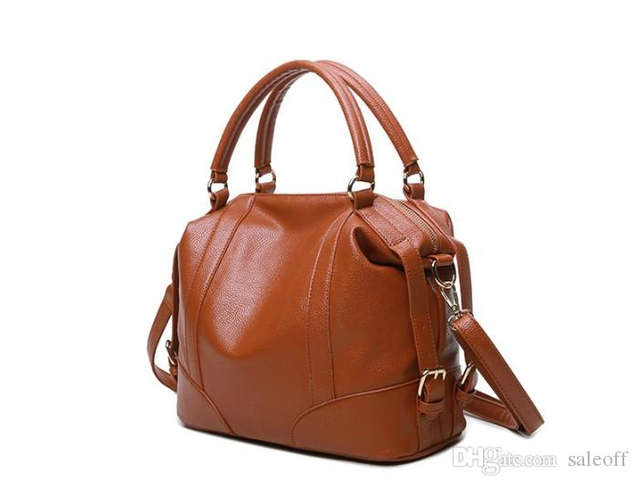 Fashion Casual Tote Boston Bags Handbags Women Famous Brands Luxury Pu Leather Female Shoulder Bags