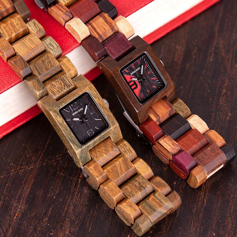 f492079eb58 BOBO BIRD S02 Fashion Women Quartz Watches Wood Wristwatch With Gift Box  Girlfriend Best Gift Birthday Present Zegarek Damski Online Shopping  Clothes ...