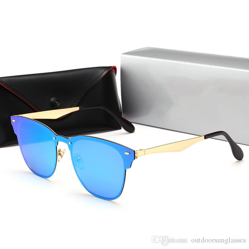 3576 Luxury Sunglasses For Men Design Fashion Sunglasses Wrap Sunglass Pilot Frame Coating Mirror Lens Carbon Fiber Legs Summer Style