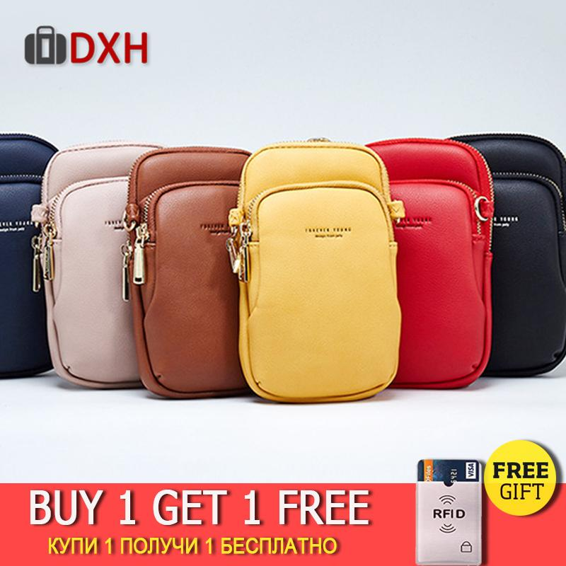 2019 New Fashion Women Girls Small Shoulder Bag Wallet Purse Leather Casual Coin Cell Phone Pouch Mini Crossbody Retro Bag DXH