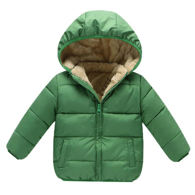 bb489a2da Baby Girls Boys Winter Coats Outerwear Fashion Hooded Parkas Jackets ...