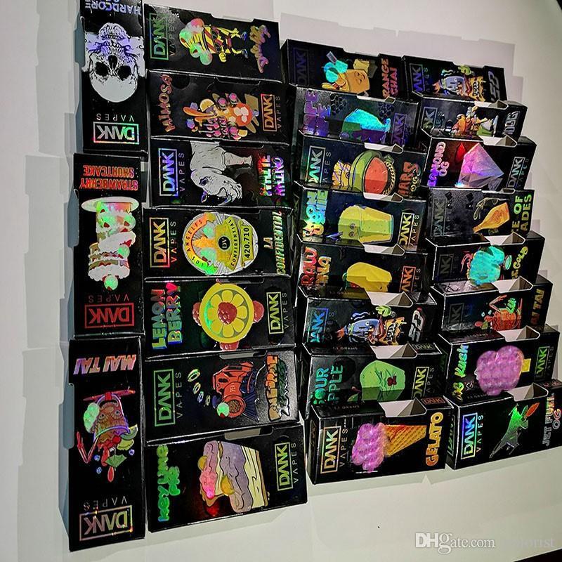 0 8ml 1 Gram Hologram Dank Vapes Side View Box Smart Carts Empty Vape Pen  Vapor Cartridges Packaging Exotic Packing Mario Holographic Box