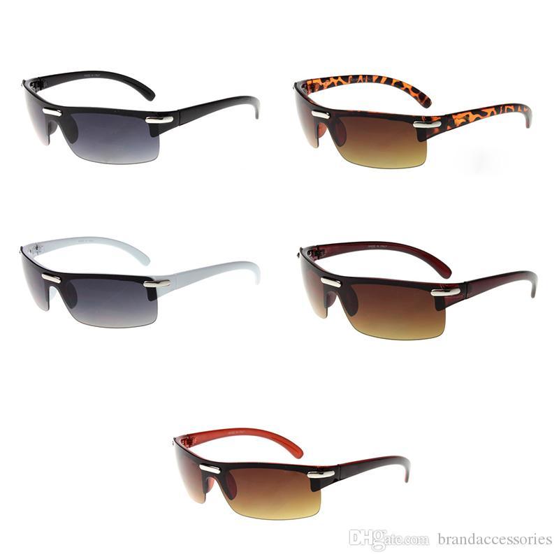 22ec93d73c0 Semi-Rimless Sunglasses Rectangle Luxury brand Designer Novelty Eyeglasses  Big Sunglasses Mens Luxury Fashion Reader Mirror 10PCS