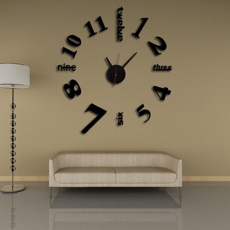 Großhandel Neue Wanduhr 3d Uhr Reloj De Pared Uhr Große Dekorative
