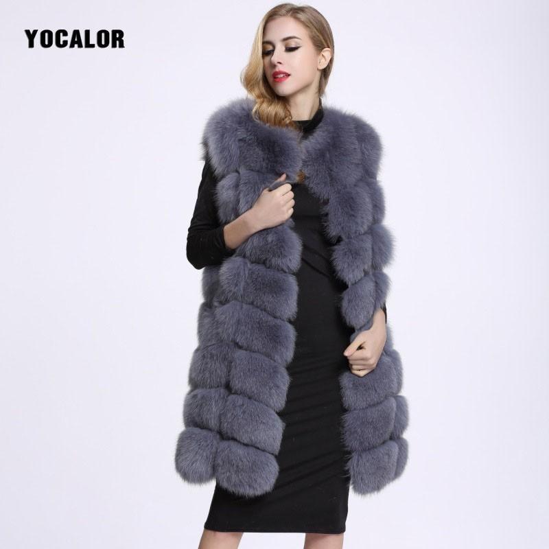 Compre Largo Chaleco De Piel Sintética Mink Fox Moda Pieles Chaqueta Para  Mujer De Invierno De Cuero De Imitación Abrigo De Las Mujeres Abrigos  Abrigos De ... 8dc55cf54d8e