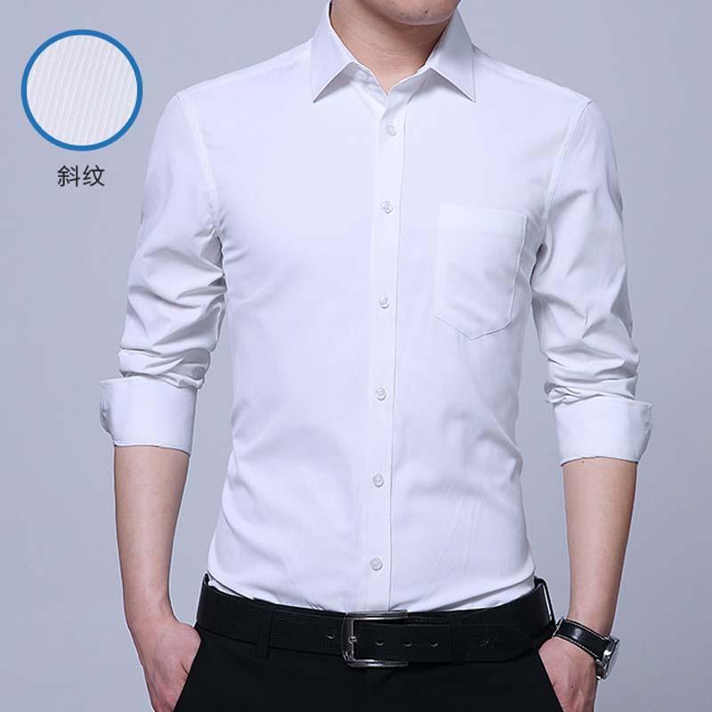 5fc471e2c7 Camicie da uomo Camicia a maniche lunghe da uomo di marca Slim Camicie da  uomo di alta qualità di design solido maschile
