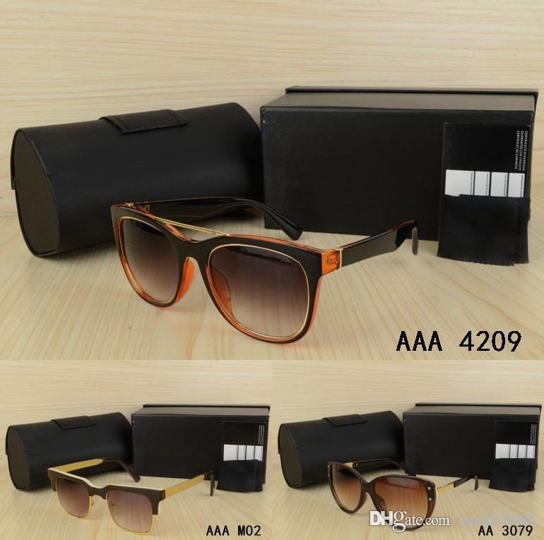 20c24100f7230 Compre Marca Vintage Para Hombre Mujer Gafas De Sol Con Caja Original  Elegante Estilo De Lujo Clásico Wayfarer Gafas Visión Conducción Goggle  Pesca Al Aire ...