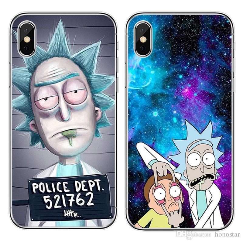 separation shoes 14127 de31e Rick and Morty Phone Cases Funny Cartoon Comic Back Cover Meme TPU  Protector for iPhone X XS XR XS Max 7/8 SE Samsung S10 plus S10E S9 Note9