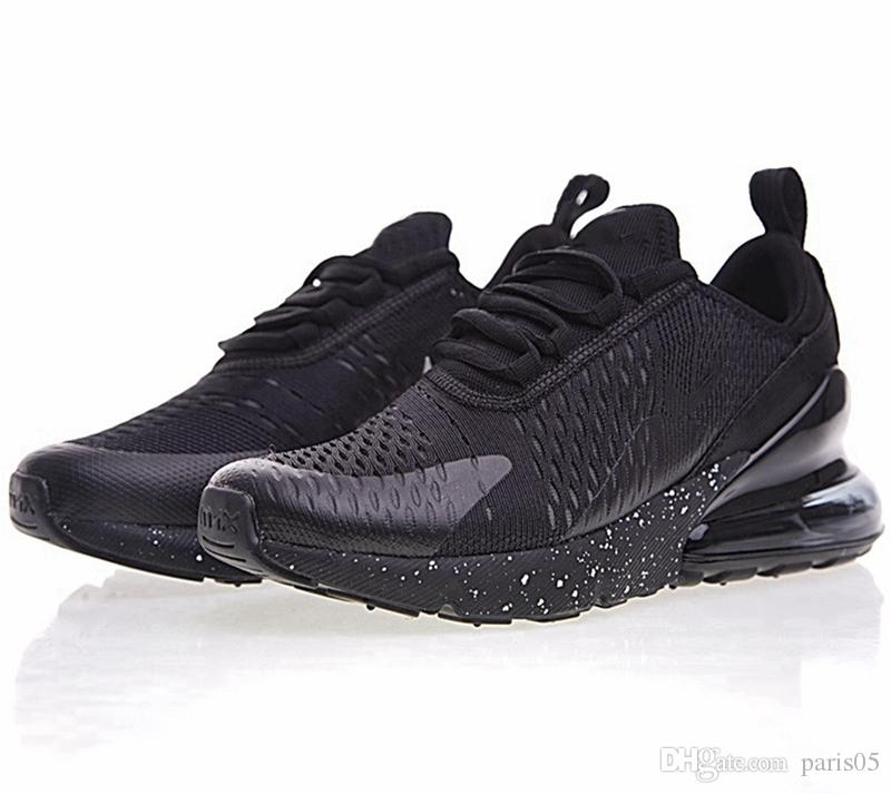 Wholesale 2018 High Quality Mens Flair Triple Black AH8050 Trainer Sports Running Shoes sole 270s Sneakers Size US 7-11