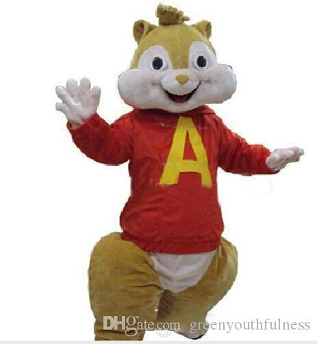 2016 FashioN New Mascot mushroomstreet Red Alvin and The Chipmunks Costume  Chipmunk Mascot Costume Halloween Costume