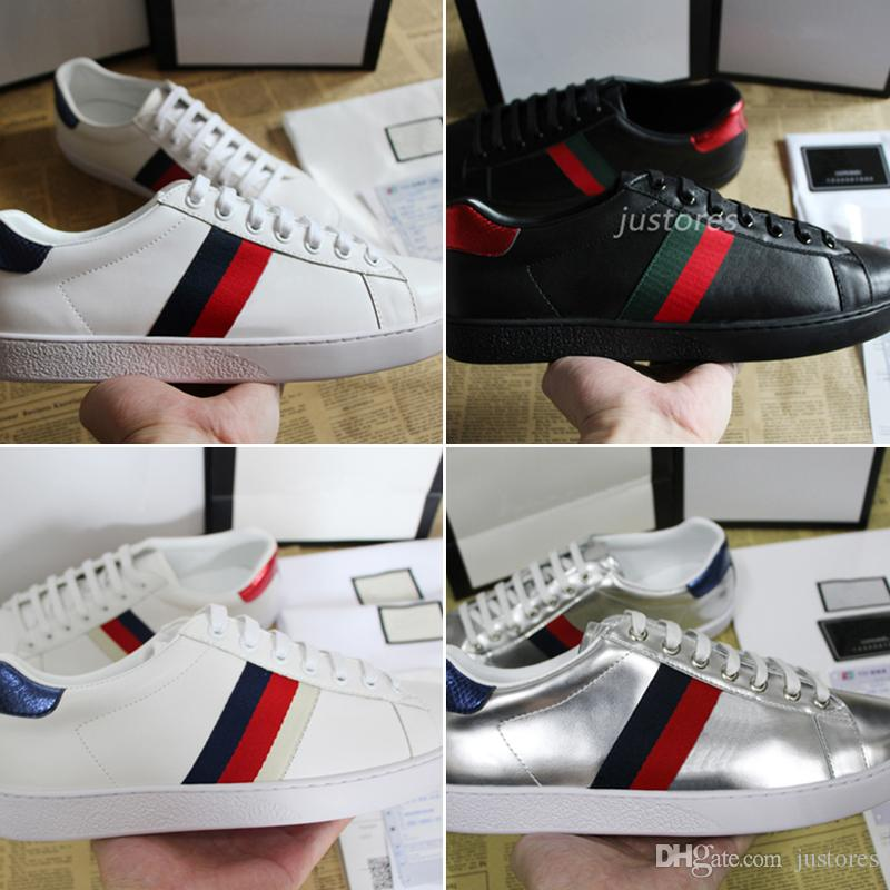 a3471b3258f0 2018 Classic Collection Top Fashion Designer Shoe White Ace Embroidered  Sneakers Luxury Casual Shoe For Man Woman Casual Shoes With Box High Heel  Shoes Nude ...