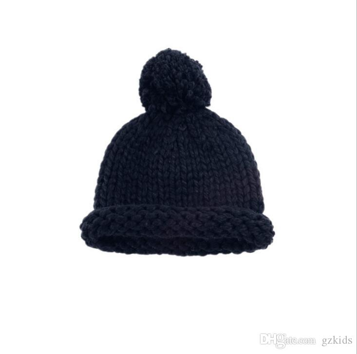 2019 New Children S Hats In Europe And America Handmade Knitted Hats For  Boys And Girls In Autumn And Winter From Gzkids 59f197927bf