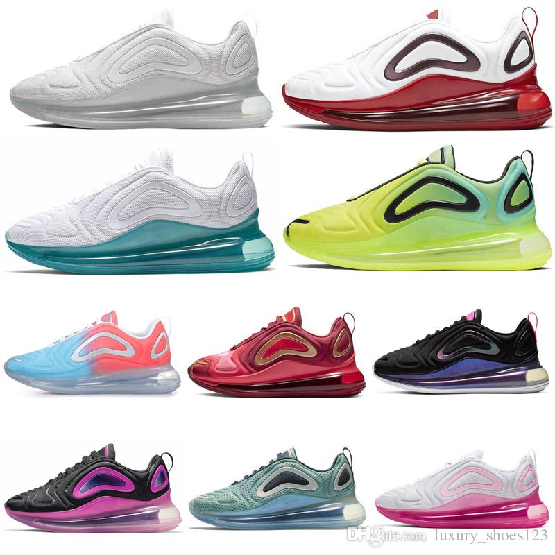 nike air max 720 2019 Scarpe outdoor per uomo Donna BETRUE Triple White Aurora boreale Sunrise Sea Forest Sunset Nero Speckle Mens Scarpe da ginnastica Sport Sneakers