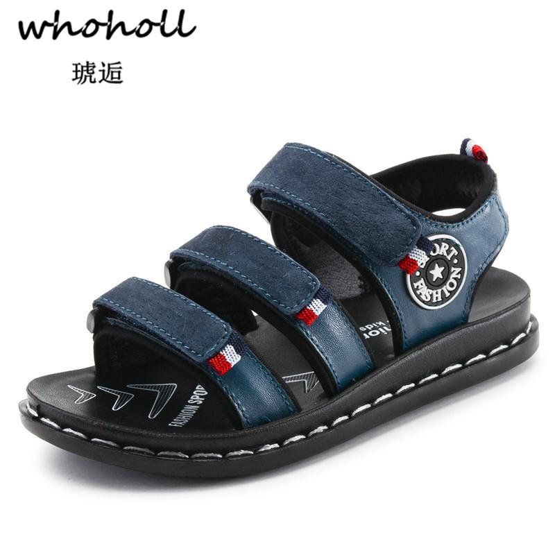 Whoholl Brand New Summer Children Beach Boys Sandals Kids Shoes Closed Toe Arch Support Sport Sandals For Boys Eu Size 26-39 Y19051602