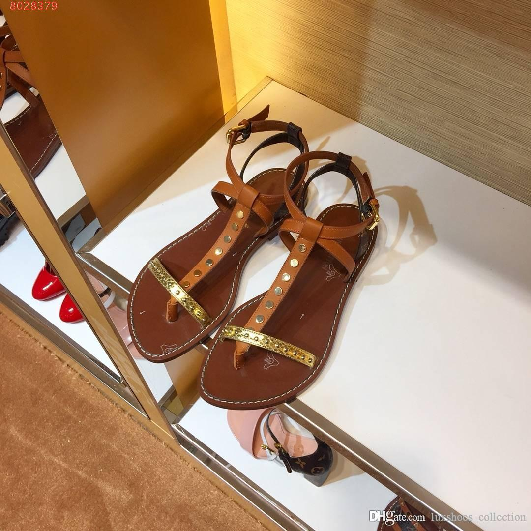7336e3f9fbb 2019 new women Sandals shoes The latest style of flat casual shoes European  and american style sandals