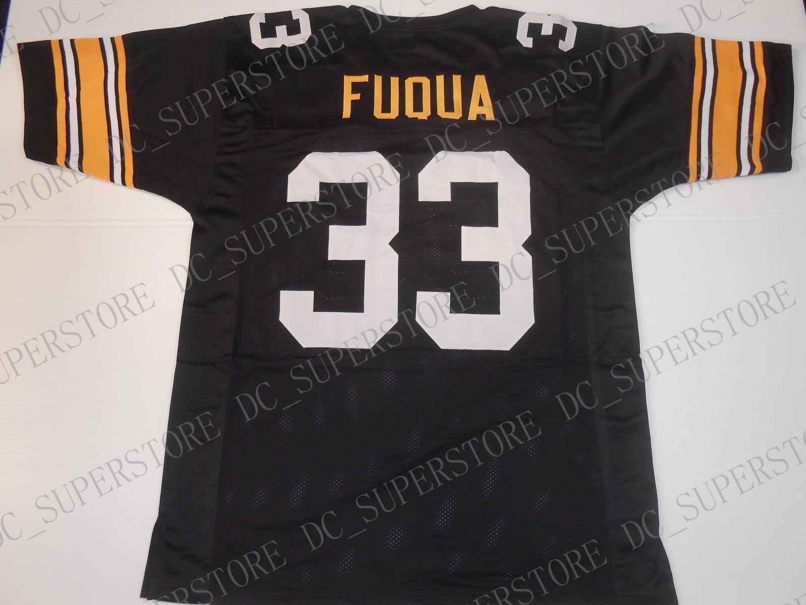 uk availability 30c68 a6396 Custom Retro #33 John Fuqua Mitchell & Ness Black Jersey Stitching men's  Football Jerseys size s-5XL or custom any name number