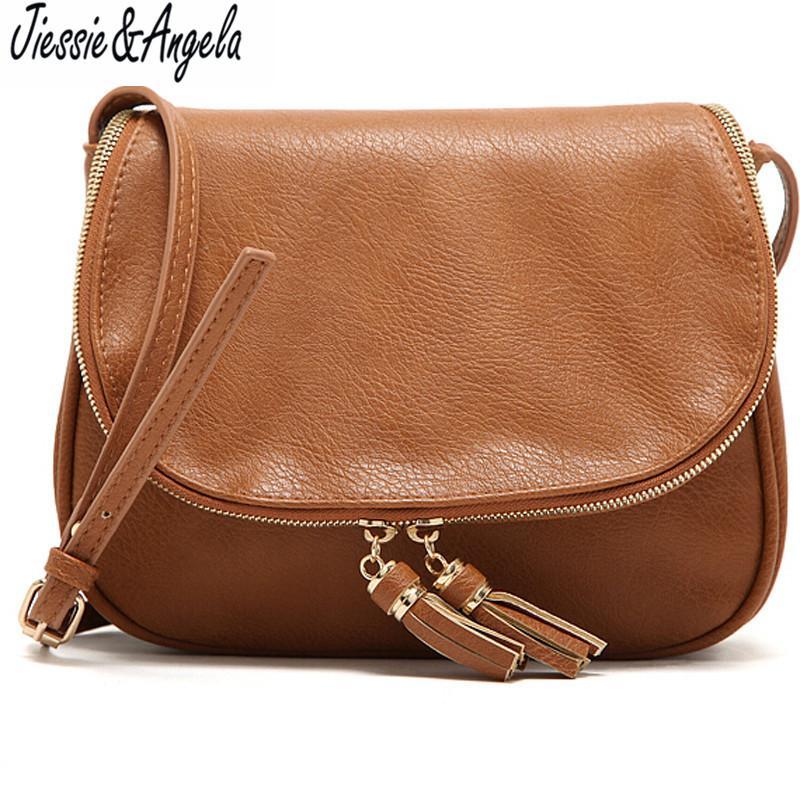 Hot Sale Tassel Women Bag Leather Handbags Cross Body Shoulder Bags Fashion  Messenger Bag Women Handbag Bolsas Femininas Best Messenger Bags Handbags  Brands ... ae715b8d174f0